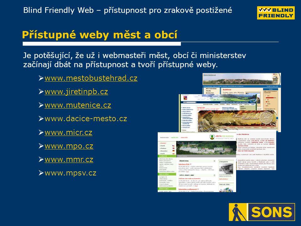Přístupné weby měst a obcí