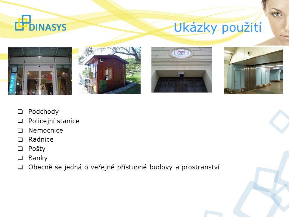 Ukázky použití Podchody Policejní stanice Nemocnice Radnice Pošty