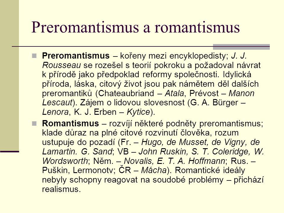 Preromantismus a romantismus