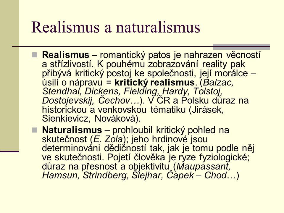 Realismus a naturalismus