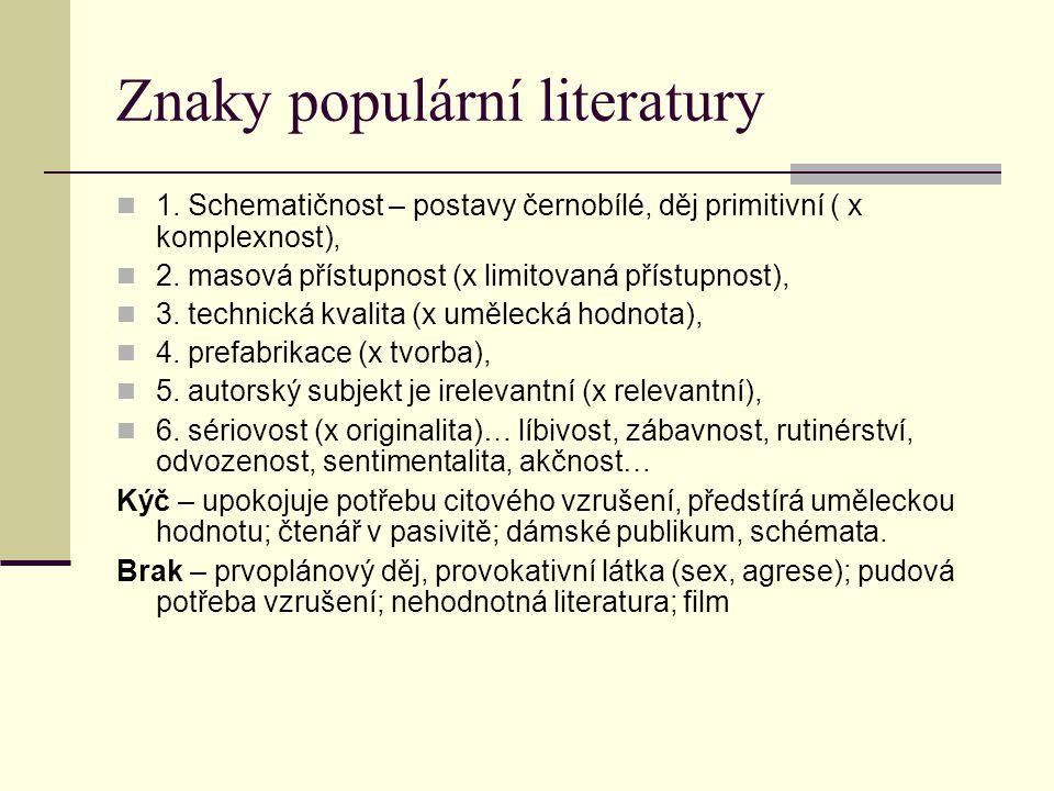 Znaky populární literatury