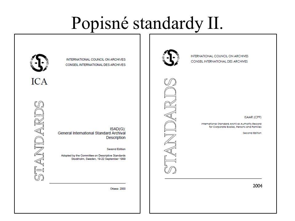 Popisné standardy II.
