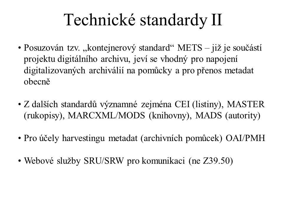 Technické standardy II