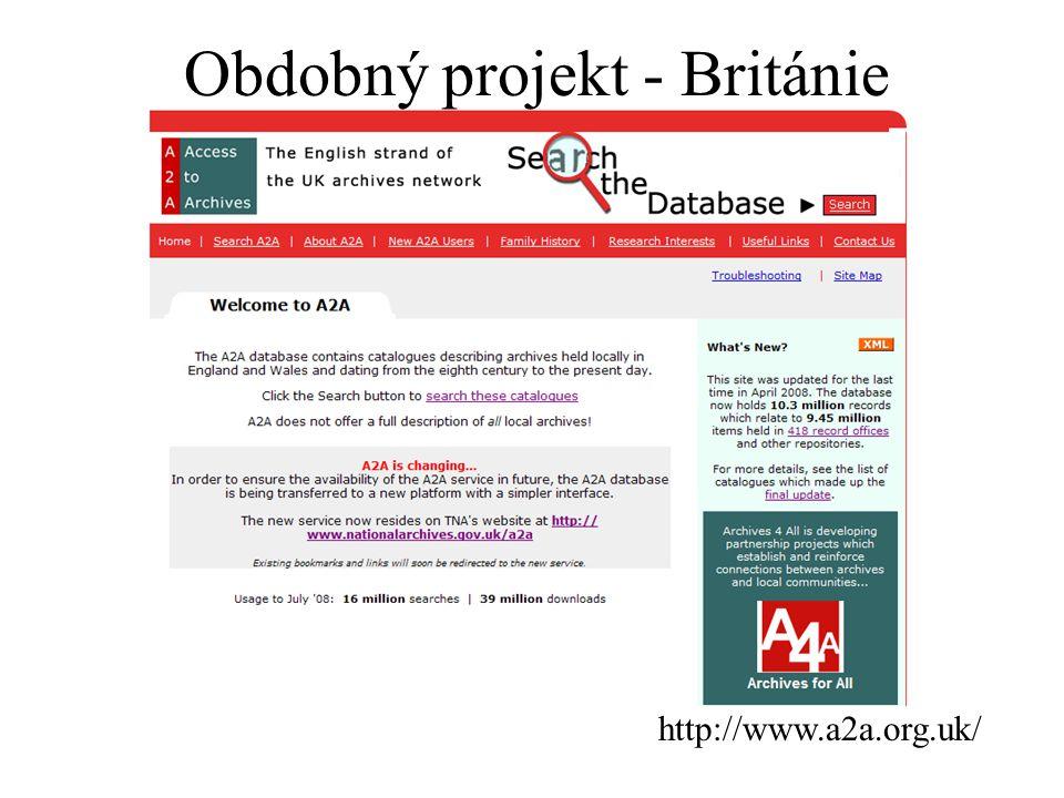 Obdobný projekt - Británie