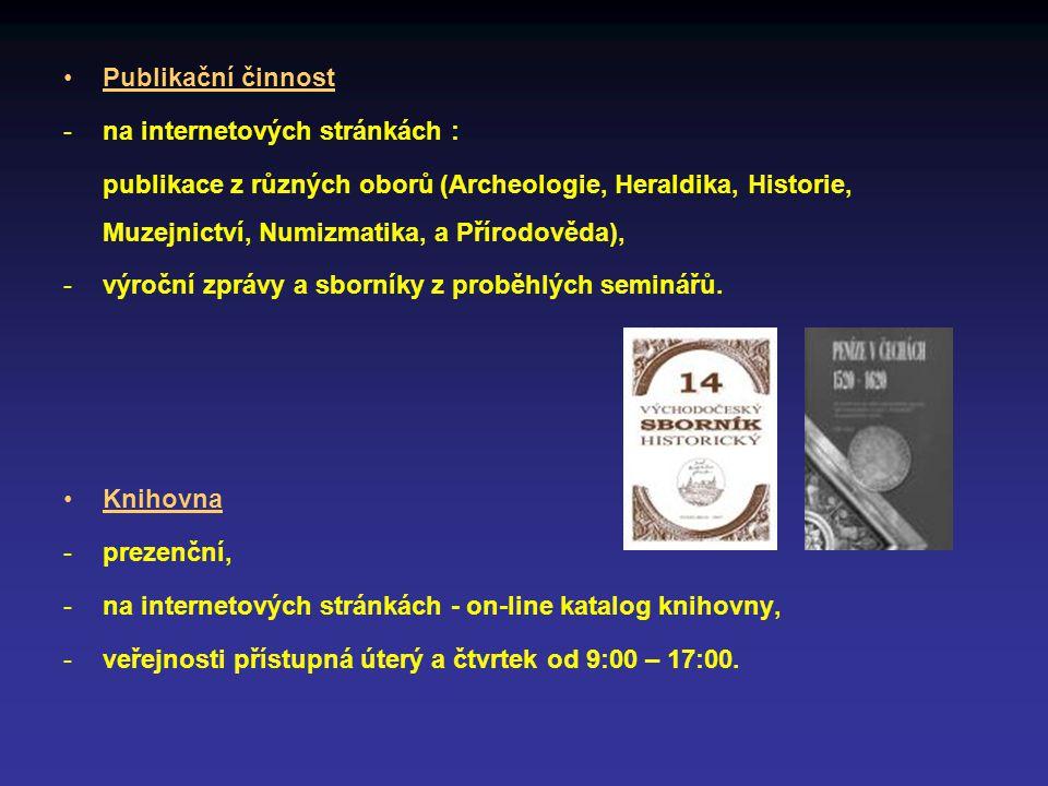 Publikační činnost na internetových stránkách :