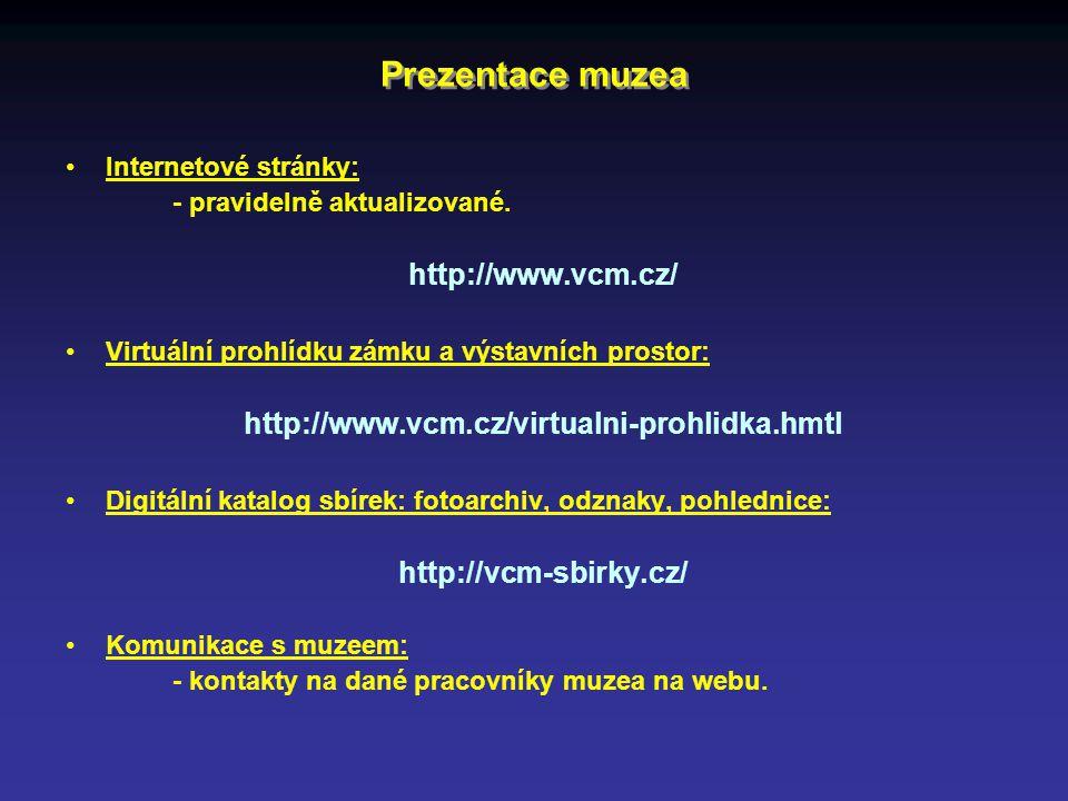 Prezentace muzea http://www.vcm.cz/