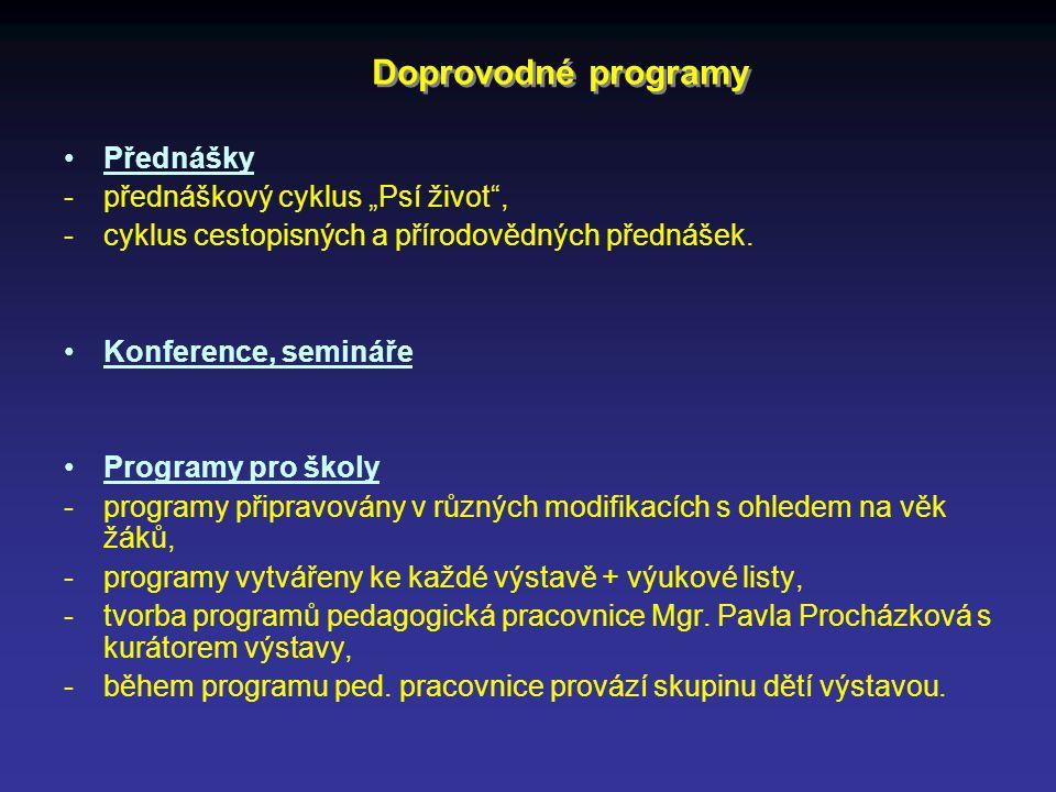 """Doprovodné programy Přednášky - přednáškový cyklus """"Psí život ,"""