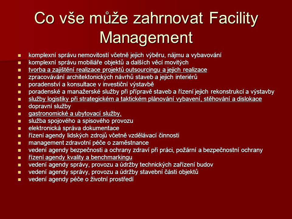 Co vše může zahrnovat Facility Management