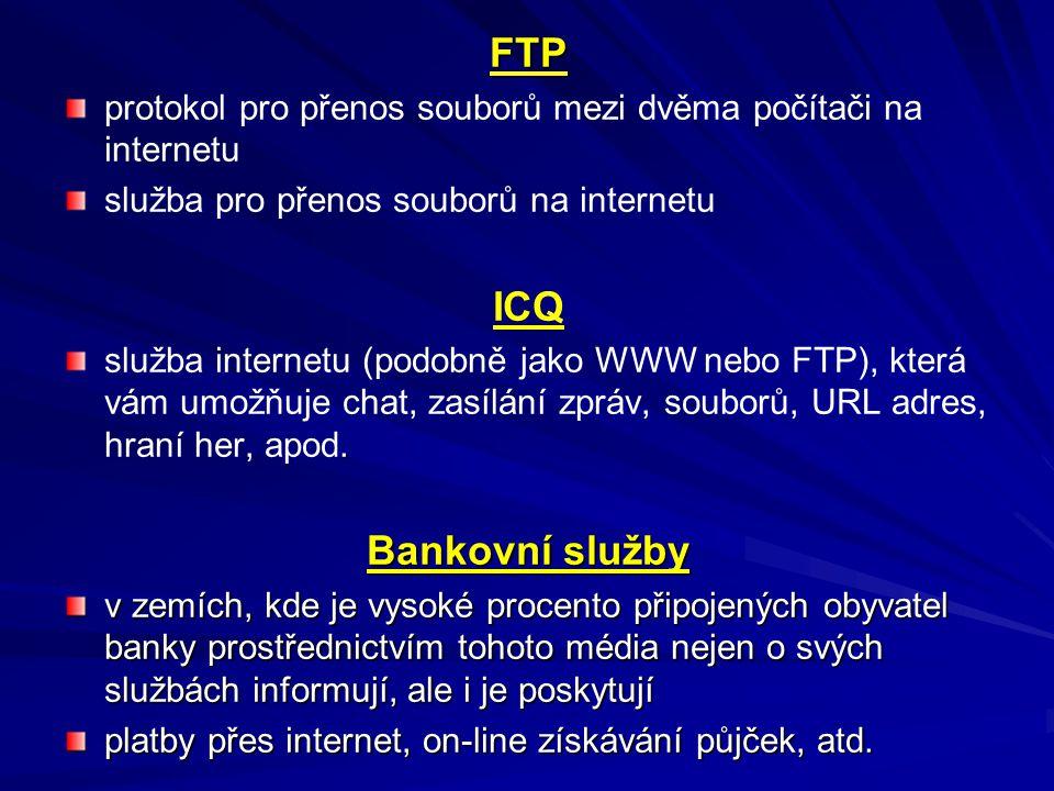 FTP ICQ Bankovní služby