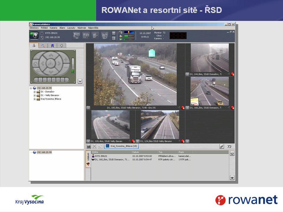 ROWANet a resortní sítě - ŘSD