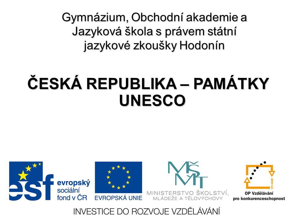 ČESKÁ REPUBLIKA – PAMÁTKY UNESCO