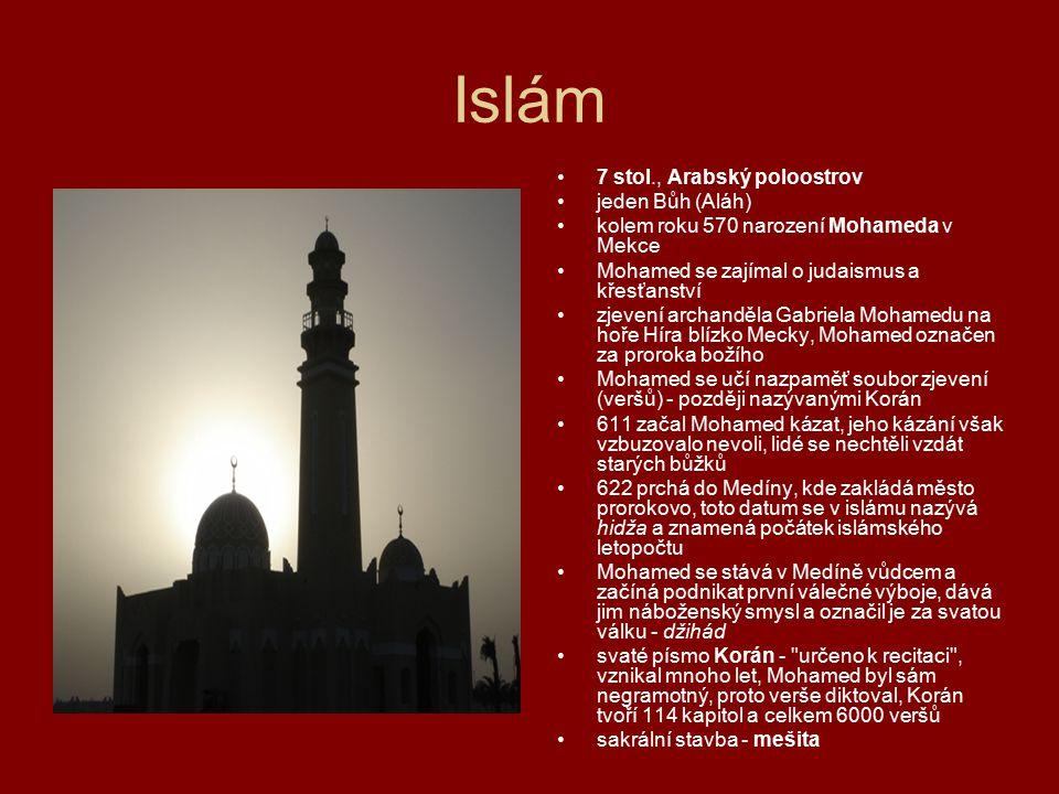 Islám 7 stol., Arabský poloostrov jeden Bůh (Aláh)
