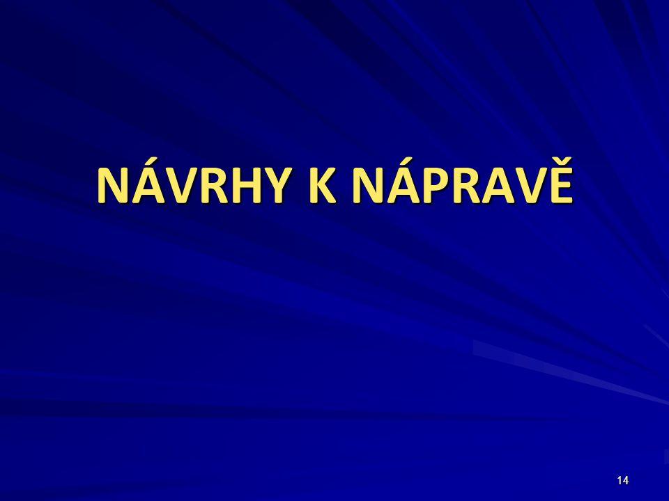 NÁVRHY K NÁPRAVĚ