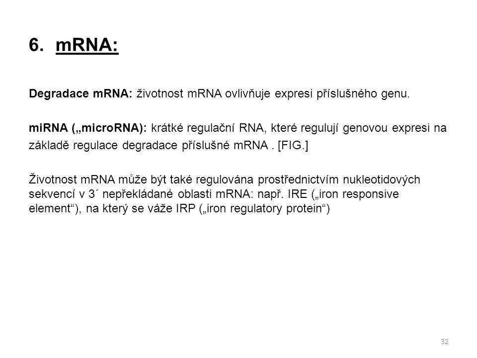 mRNA: