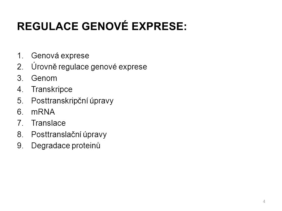 REGULACE GENOVÉ EXPRESE: