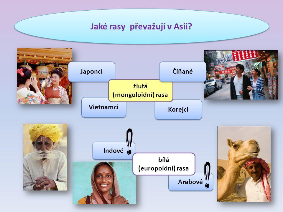 Jaké rasy převažují v Asii
