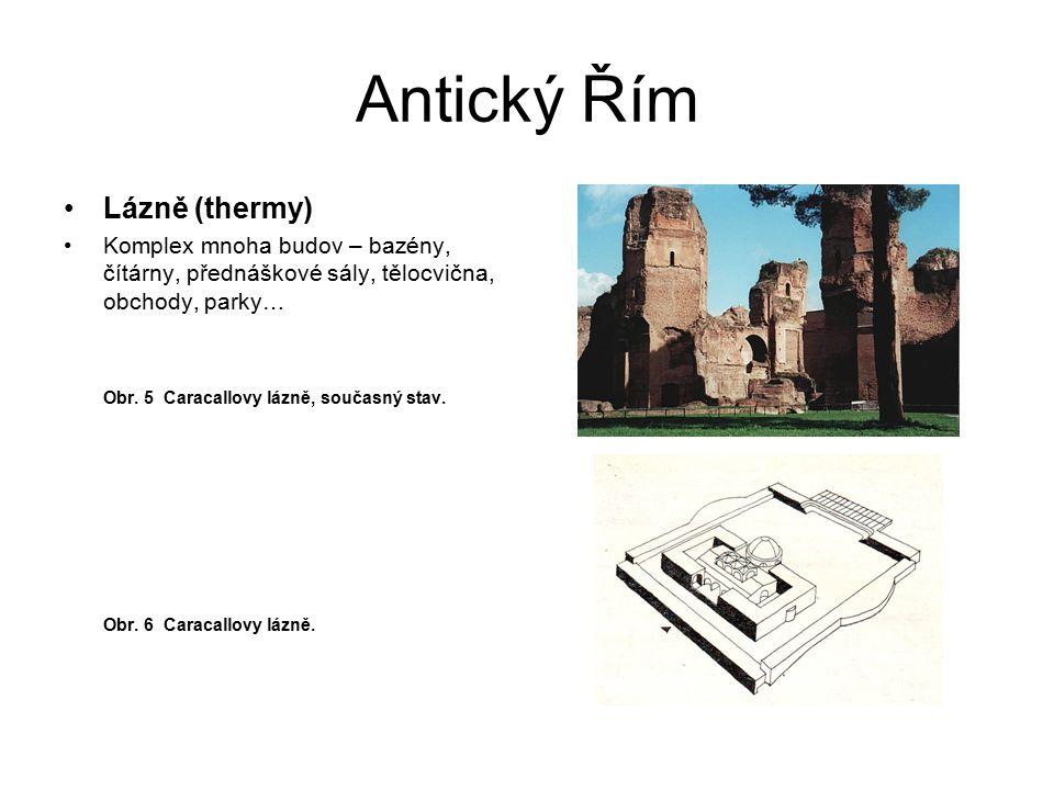 Antický Řím Lázně (thermy)