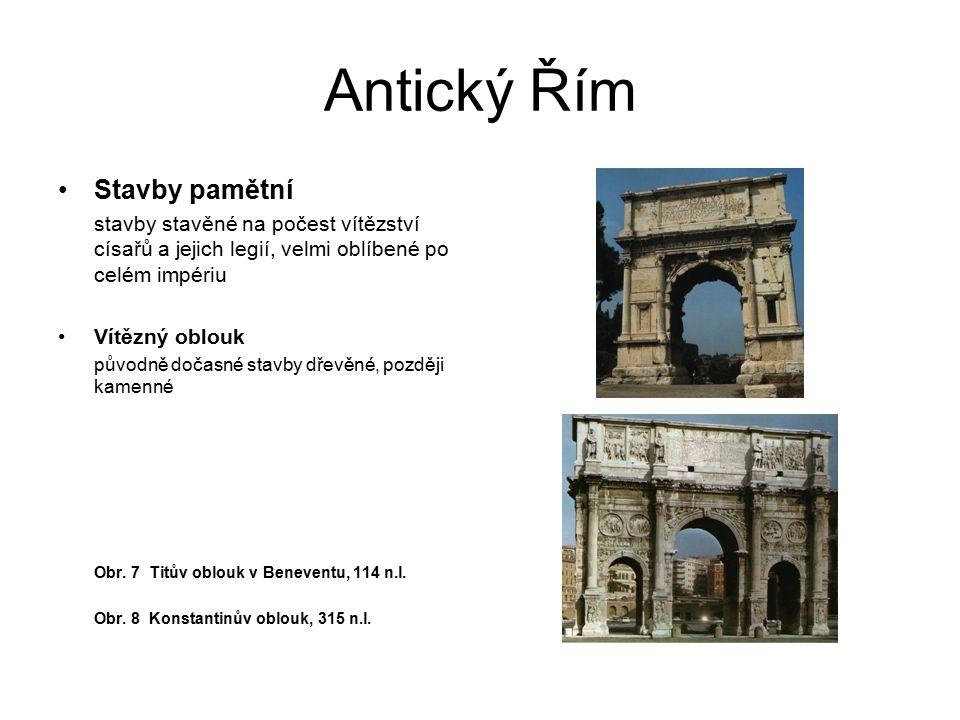 Antický Řím Stavby pamětní
