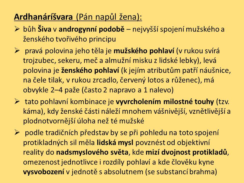 Ardhanáríšvara (Pán napůl žena):
