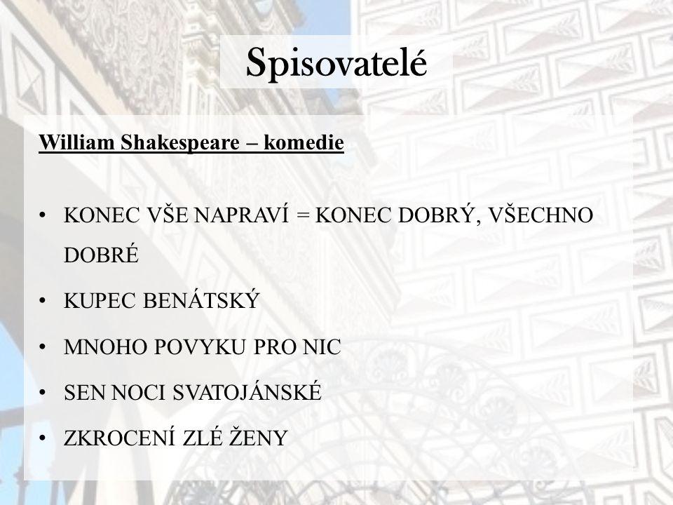 Spisovatelé William Shakespeare – komedie