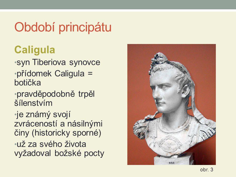Období principátu Caligula syn Tiberiova synovce