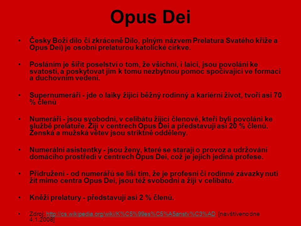 Opus Dei Česky Boží dílo či zkráceně Dílo, plným názvem Prelatura Svatého kříže a Opus Dei) je osobní prelaturou katolické církve.