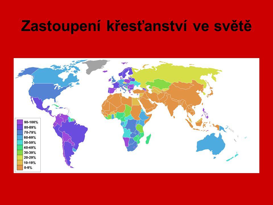 Zastoupení křesťanství ve světě