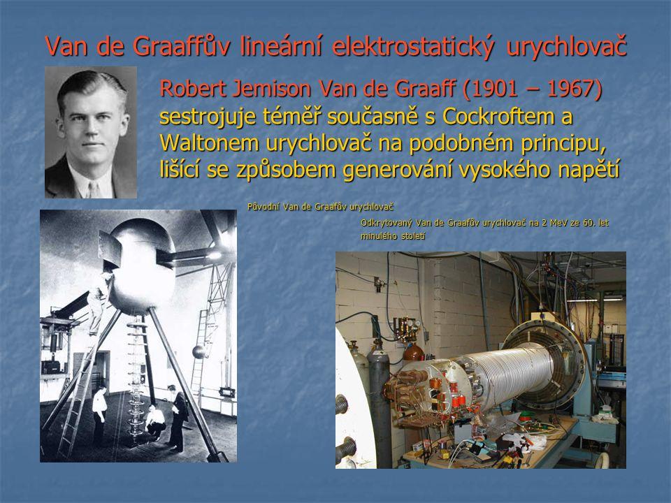 Van de Graaffův lineární elektrostatický urychlovač