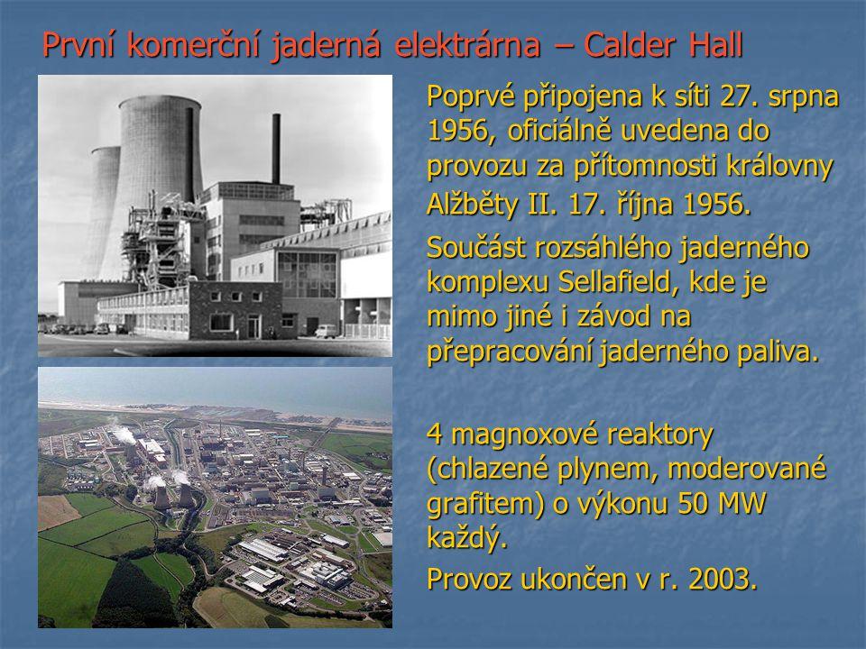 První komerční jaderná elektrárna – Calder Hall