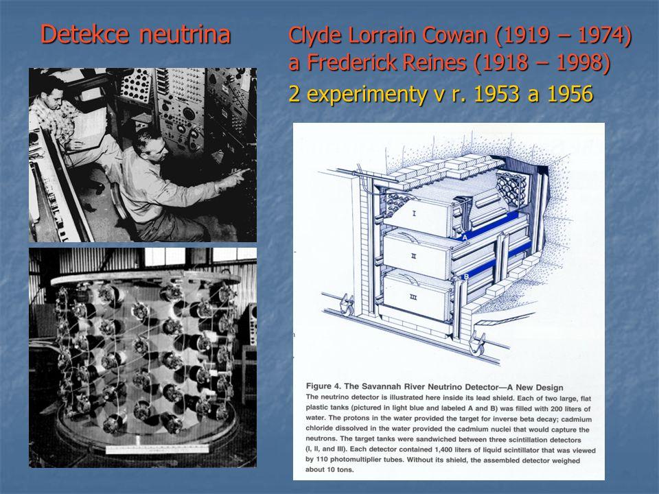 Clyde Lorrain Cowan (1919 – 1974) a Frederick Reines (1918 – 1998)