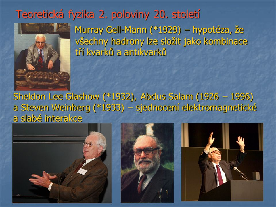 Teoretická fyzika 2. poloviny 20. století
