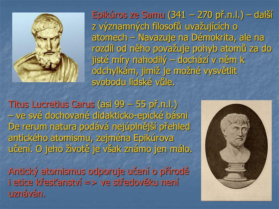 Epikúros ze Samu (341 – 270 př.n.l.) – další