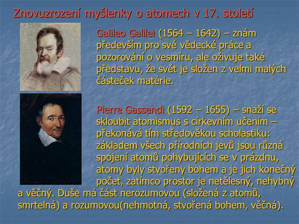 Znovuzrození myšlenky o atomech v 17. století
