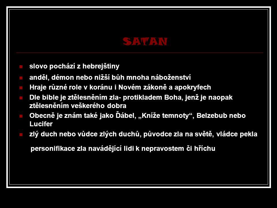 SATAN slovo pochází z hebrejštiny