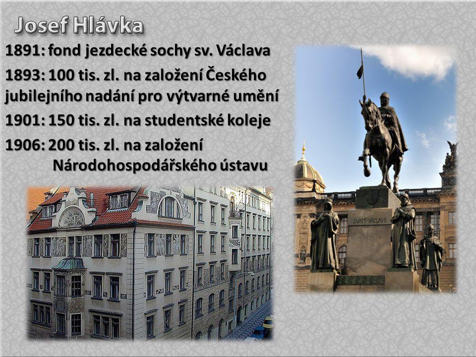 1891: fond jezdecké sochy sv. Václava