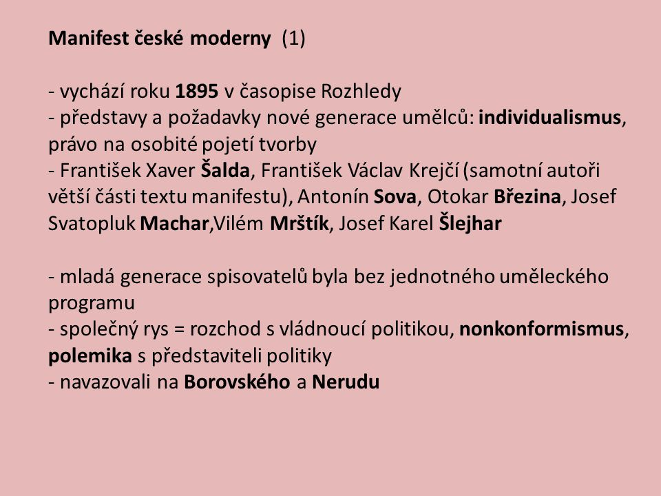Manifest české moderny (1)