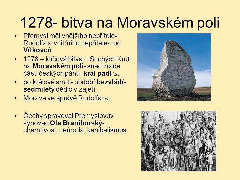 1278- bitva na Moravském poli