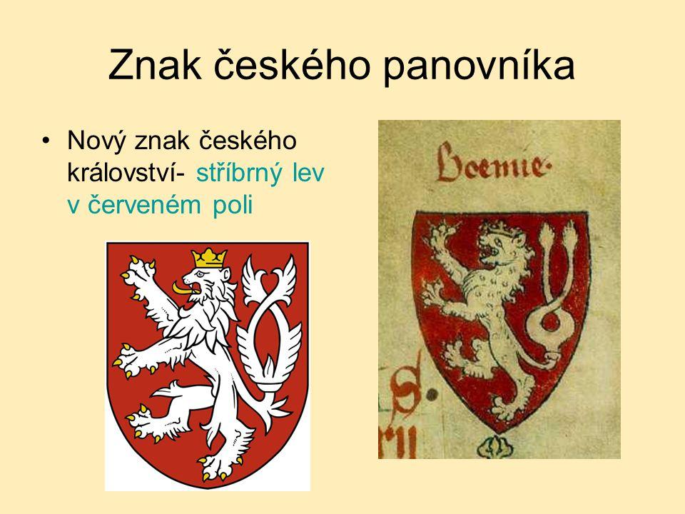 Znak českého panovníka