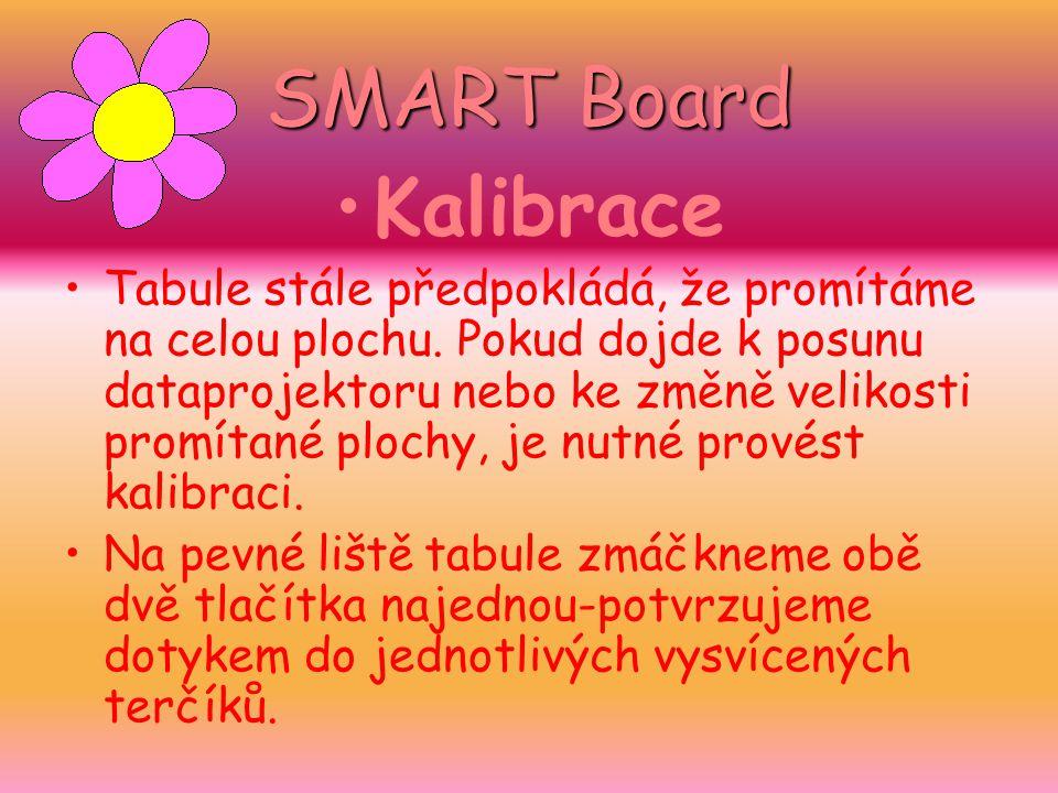 SMART Board Kalibrace.