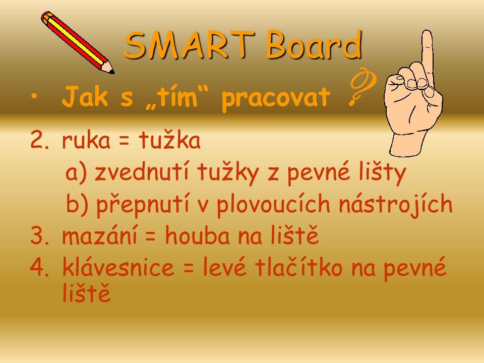 """SMART Board Jak s """"tím pracovat ruka = tužka"""