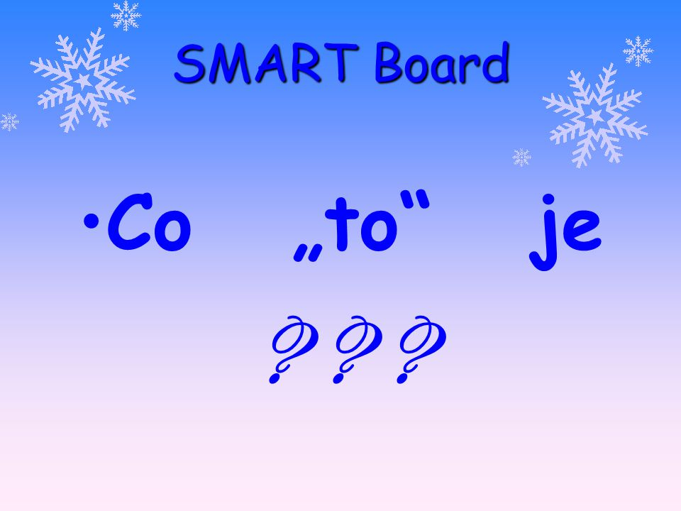"SMART Board Co ""to je"