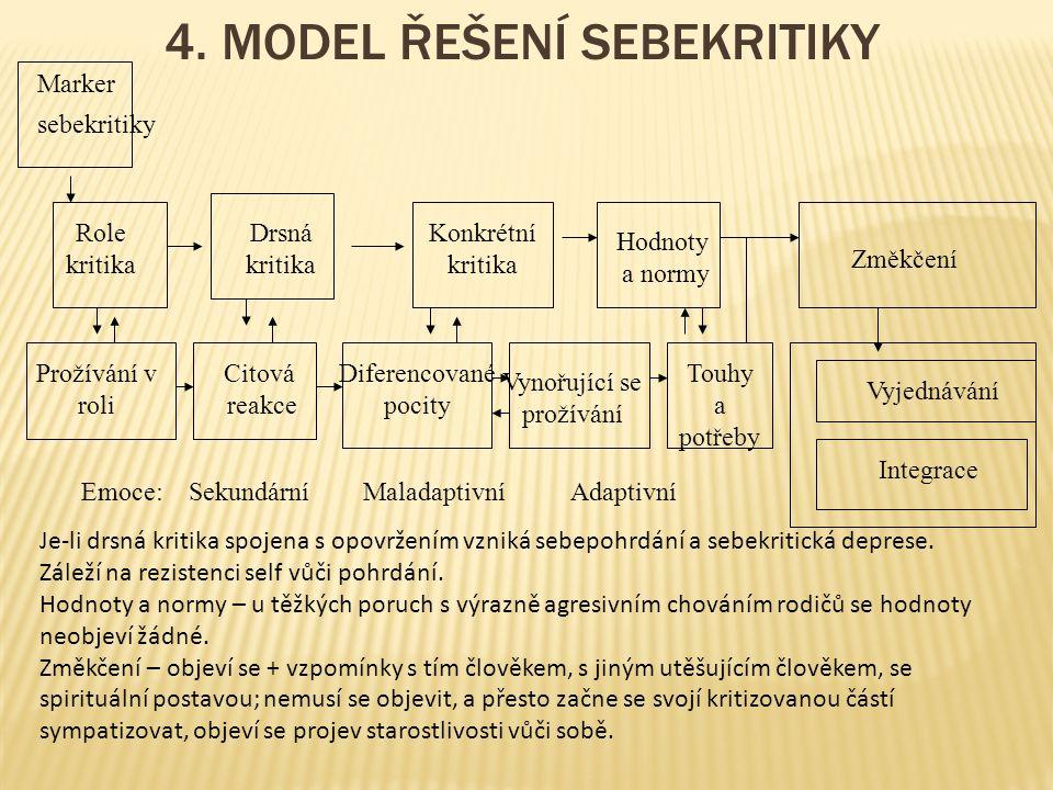 4. MODEL ŘEŠENÍ SEBEKRITIKY