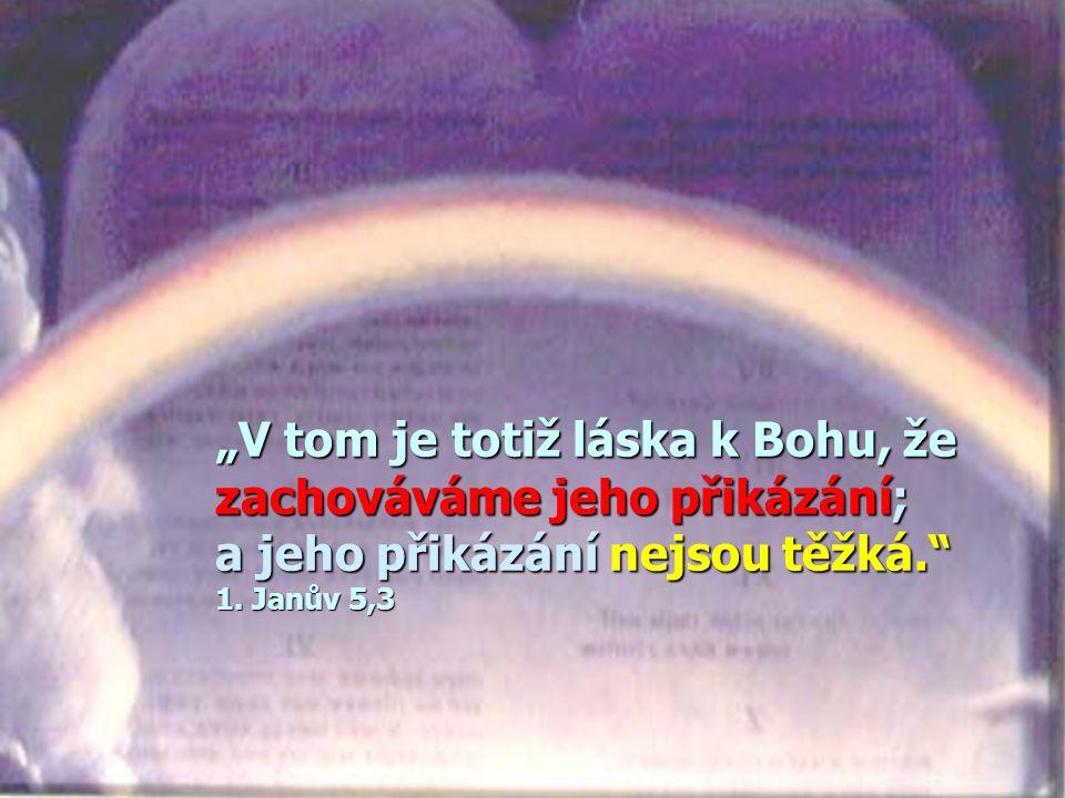 """""""V tom je totiž láska k Bohu, že zachováváme jeho přikázání; a jeho přikázání nejsou těžká. 1."""