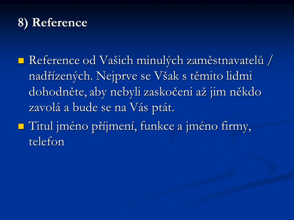 8) Reference