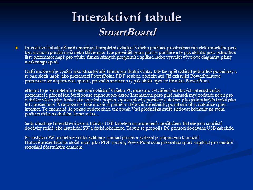 Interaktivní tabule SmartBoard