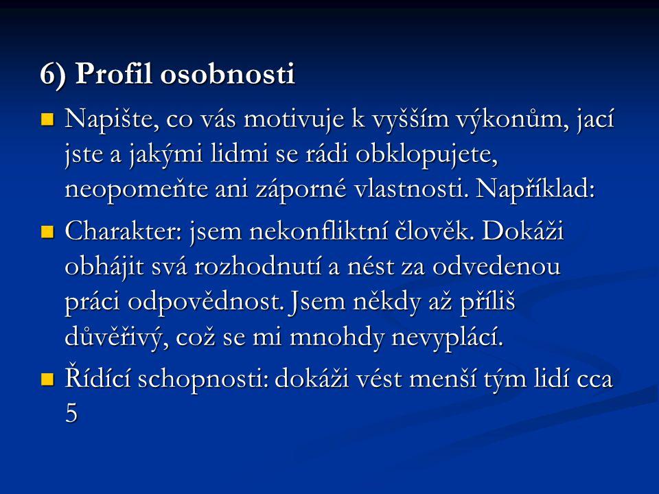 6) Profil osobnosti