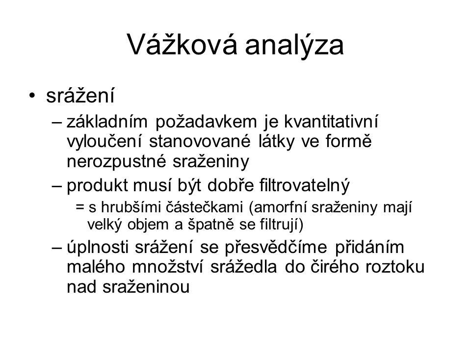 Vážková analýza srážení