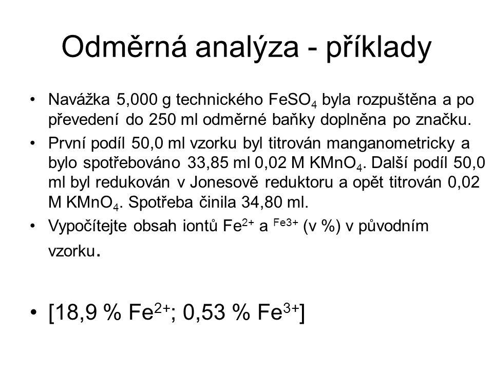 Odměrná analýza - příklady