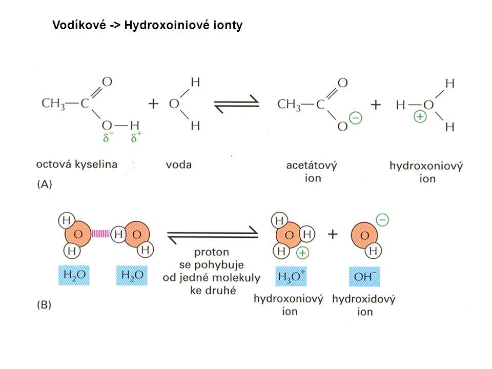 Vodíkové -> Hydroxoiniové ionty