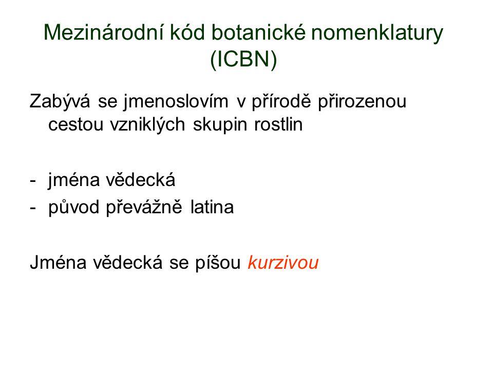 Mezinárodní kód botanické nomenklatury (ICBN)